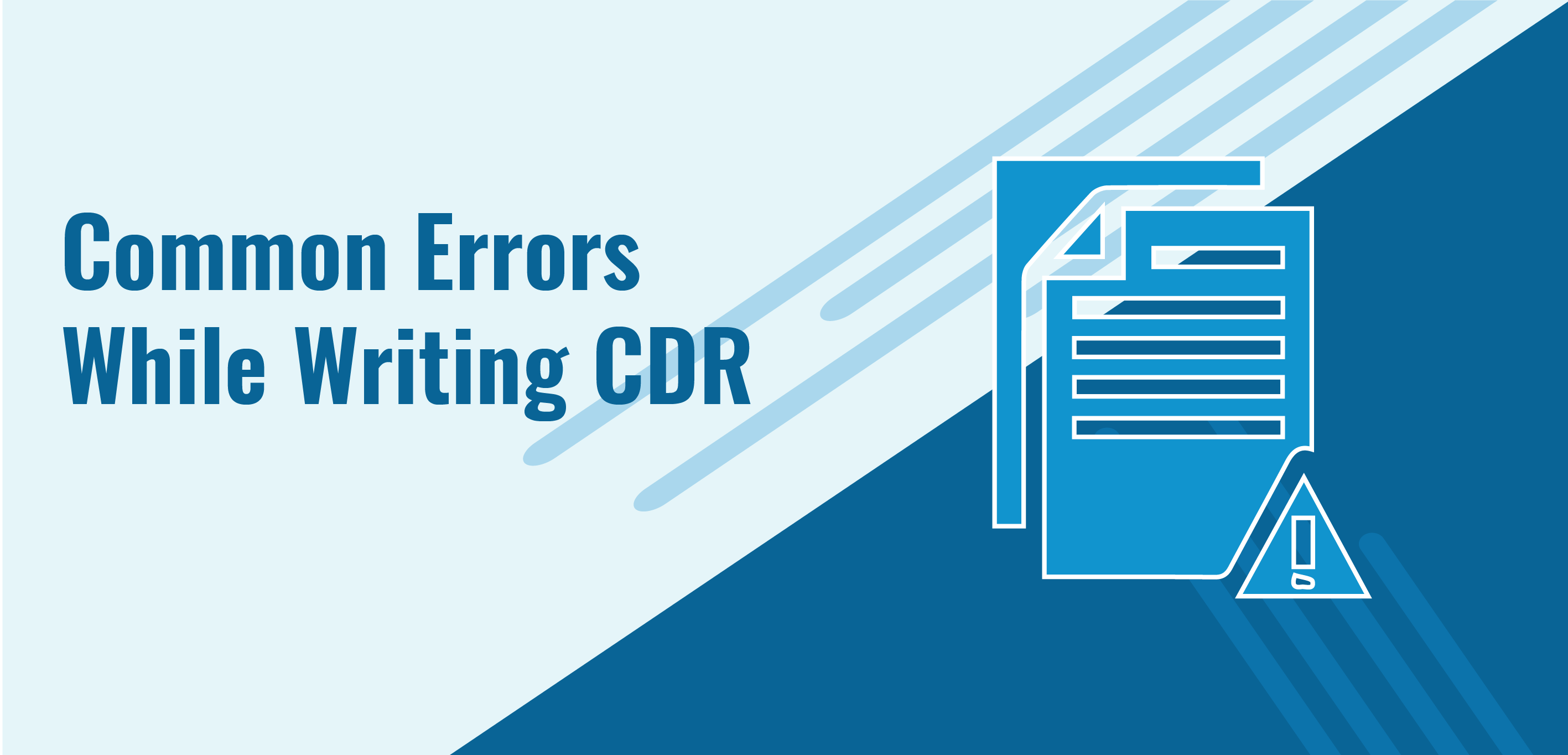 common errors while writing a cdr