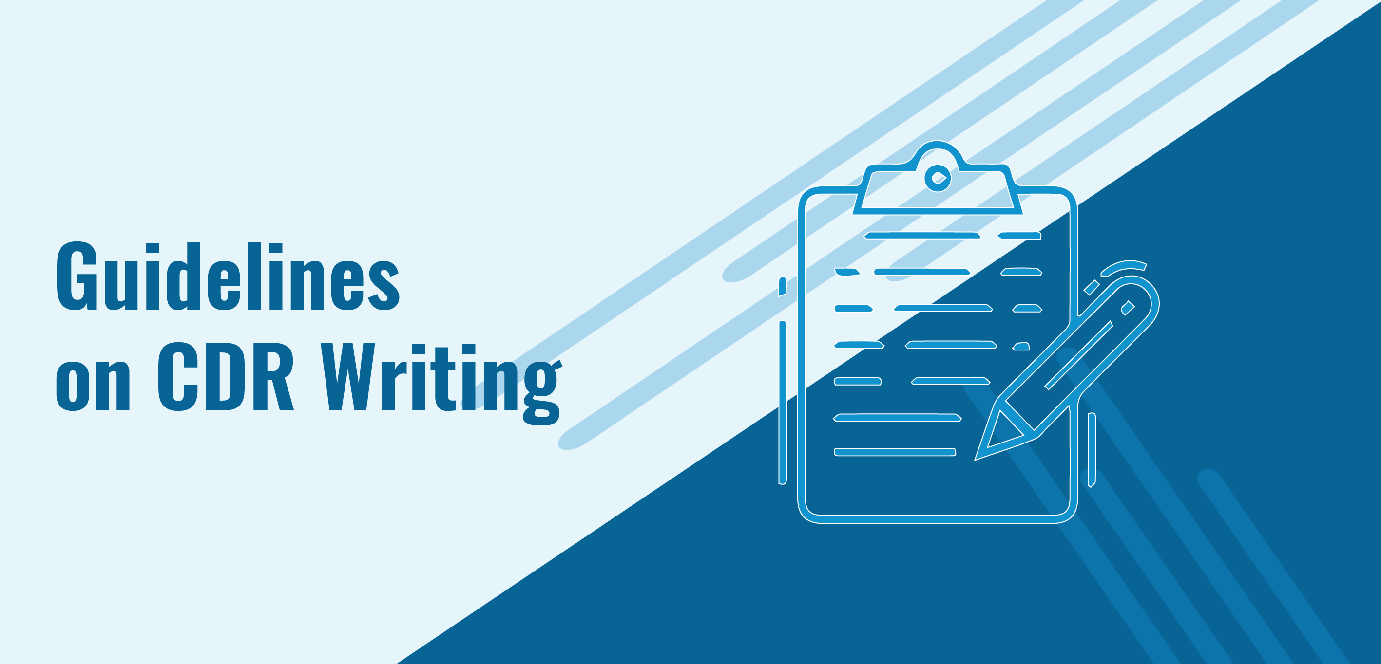 Guidelines on CDR writing