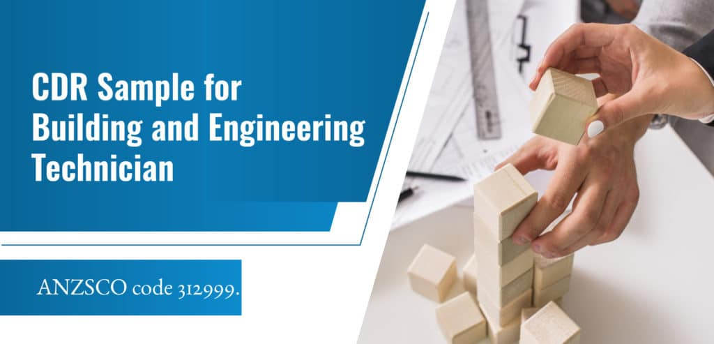 CDR Sample for Building Engineering Technicians