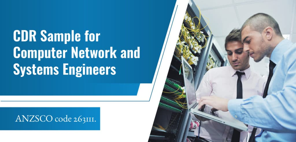 CDR Sample for Computer Network and Systems Engineer