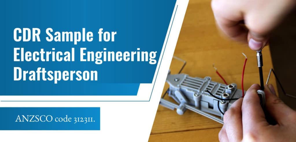 CDR Sample for Electrical Engineering Draftsperson
