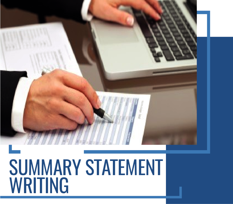 CDR Services - Summary Statement Writing